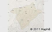 Shaded Relief Map of Hengshan, lighten