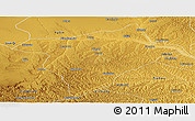 Physical Panoramic Map of Hengshan