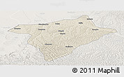 Shaded Relief Panoramic Map of Hengshan, lighten