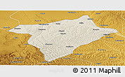 Shaded Relief Panoramic Map of Hengshan, physical outside