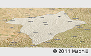 Shaded Relief Panoramic Map of Hengshan, satellite outside