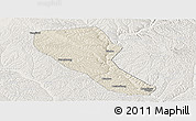 Shaded Relief Panoramic Map of Jia Xian, lighten