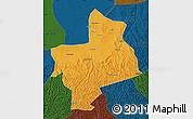 Political Map of Jingbian, darken