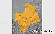 Political Map of Jingbian, desaturated