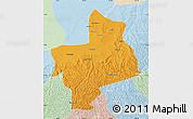 Political Map of Jingbian, lighten