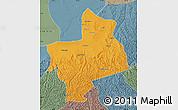 Political Map of Jingbian, semi-desaturated