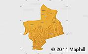 Political Map of Jingbian, single color outside