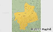 Savanna Style Map of Jingbian