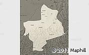 Shaded Relief Map of Jingbian, darken
