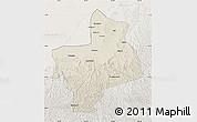 Shaded Relief Map of Jingbian, lighten
