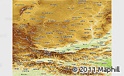 Physical Panoramic Map of Shaanxi