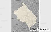 Shaded Relief Map of Shenmu, darken, desaturated