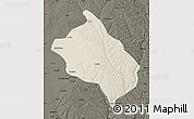 Shaded Relief Map of Shenmu, darken