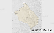 Shaded Relief Map of Shenmu, lighten, desaturated