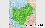 Political Map of Wuqi, lighten