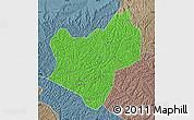 Political Map of Wuqi, semi-desaturated