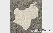 Shaded Relief Map of Wuqi, darken