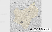 Shaded Relief Map of Wuqi, desaturated