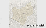 Shaded Relief Map of Wuqi, lighten