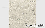 Shaded Relief Map of Wuqi