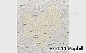 Shaded Relief Map of Wuqi, semi-desaturated