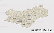 Shaded Relief Panoramic Map of Wuqi, cropped outside