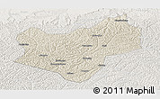 Shaded Relief Panoramic Map of Wuqi, lighten