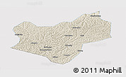 Shaded Relief Panoramic Map of Wuqi, single color outside