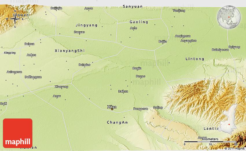 Physical 3D Map of Xi An Shiqu