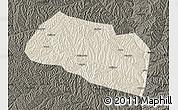 Shaded Relief Map of Yanchang, darken