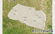 Shaded Relief Map of Yanchang, satellite outside