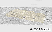 Shaded Relief Panoramic Map of Yanchang, desaturated