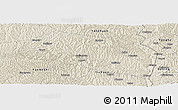 Shaded Relief Panoramic Map of Yanchang