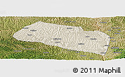 Shaded Relief Panoramic Map of Yanchang, satellite outside