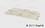 Shaded Relief Panoramic Map of Yanchang, single color outside