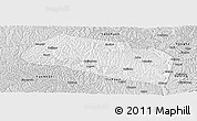 Silver Style Panoramic Map of Yanchang