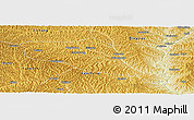 Physical Panoramic Map of Yanchuan