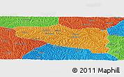 Political Panoramic Map of Yanchuan