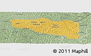 Savanna Style Panoramic Map of Yanchuan
