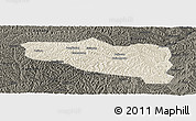 Shaded Relief Panoramic Map of Yanchuan, darken