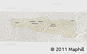 Shaded Relief Panoramic Map of Yanchuan, lighten
