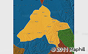 Political Map of Yulin, darken