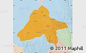 Political Map of Yulin, lighten