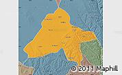 Political Map of Yulin, semi-desaturated