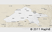 Classic Style Panoramic Map of Yulin
