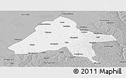 Gray Panoramic Map of Yulin