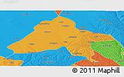 Political Panoramic Map of Yulin
