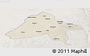 Shaded Relief Panoramic Map of Yulin, lighten