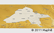 Shaded Relief Panoramic Map of Yulin, physical outside