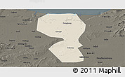 Shaded Relief Panoramic Map of Changyi, darken